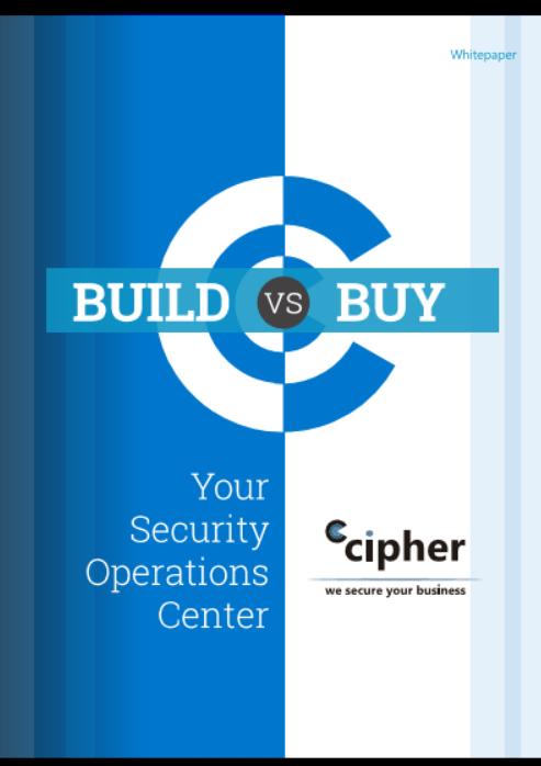 build versus buy SOC